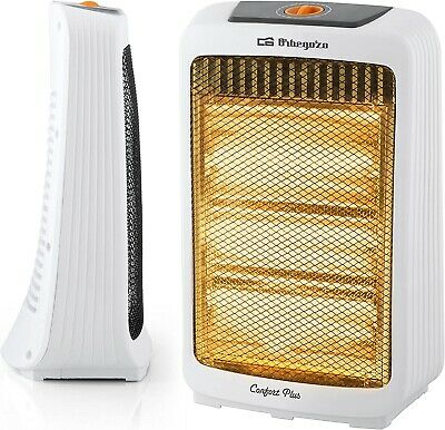 Estufa calefactor electrico de cuarzo 1200 W, 3 niveles potencia, antivuelco,asa