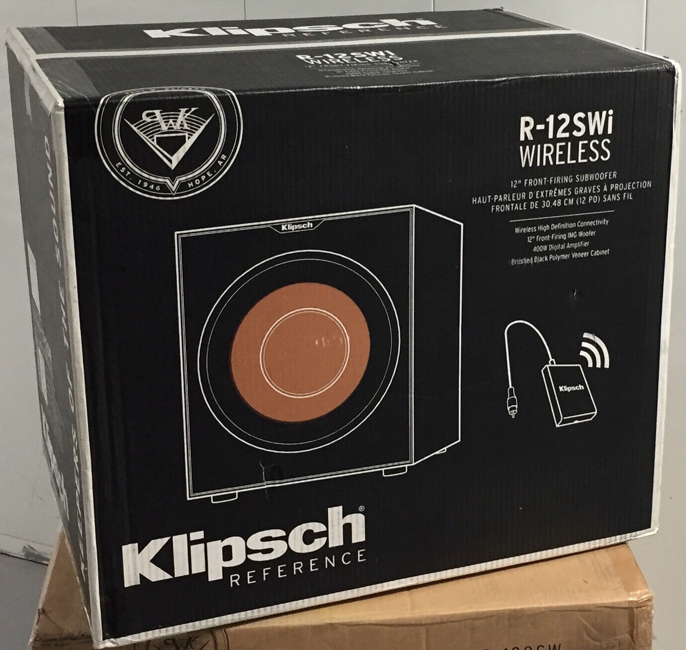 "BRAND NEW! Klipsch R-12SWi 12"" 400 Watts Wireless Subwoofer"