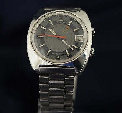 Omega Automatic 980 Cal Alarm Memomatic Vintage 1970 166.072 Ref Watch