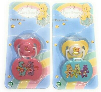 Care Bears Pacifier with Clip Holder (Set of 2) - Orthodontic BPA Free