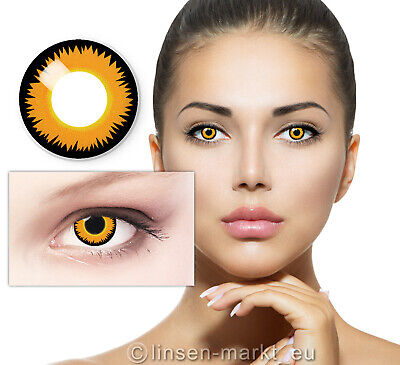 Crazy Farbige Kontaktlinsen Halloween Fashing Lenses Karneval Orange - Orange Kontaktlinsen