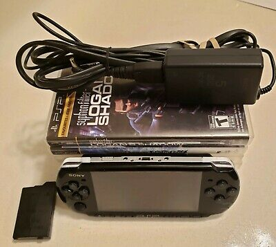 Sony Playstation Portable|PSP-3001|2GB Memory Stick,6 Games| Charger, NO Battery