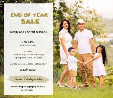 End of year sale! Family Photography
