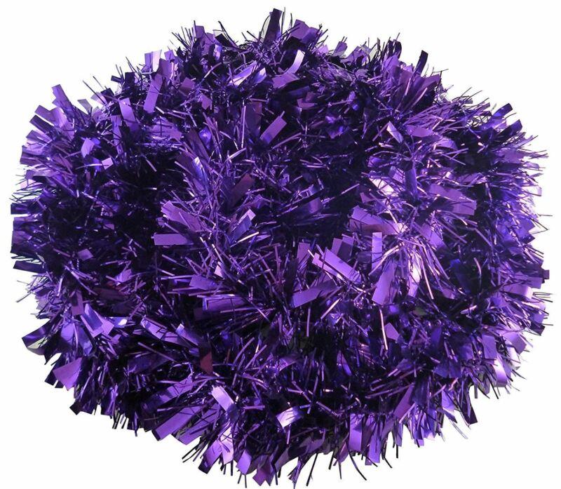 16+x+Purple+Tinsel+Luxury+Deluxe+Chunky+Christmas+Garland+Tree+Xmas+Decoration