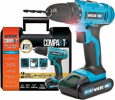 GENUINE MYLEK 20V Cordless DIY Combi Drill Driver Screwdriver Variable Speed