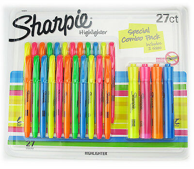 Sharpie Highlighter Smear Guard Pack Of 27 Assorted Colors New In Pack