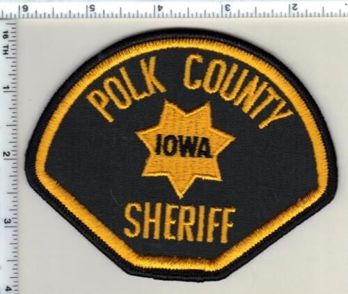 Polk County Sheriff (Iowa) Uniform Take-Off Shoulder Patch from the 1980