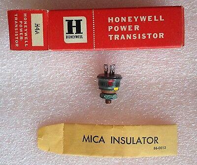 Rare Vintage H4a Honeywell Germanium Power Transistor In Original Box Nib 2n57