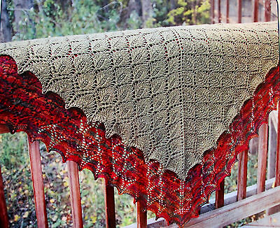 Leaf Lace Shawl By Evelyn Clark Fiber Trends