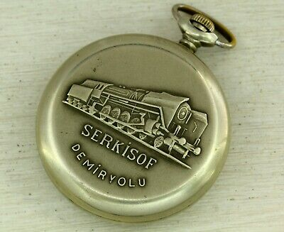 SERKiSOF Vintage pocket watch 18j for railway workers
