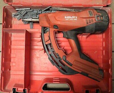 Preowned Hilti Gx 120 Gas Powered Fully Automatic Fastener Nail Gun W Case
