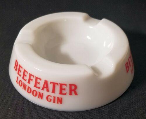 Vintage Beefeater Gin Ashtray White Glass Nazeing