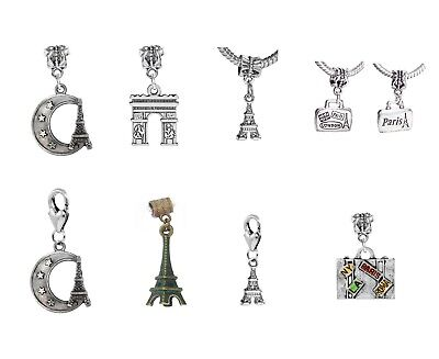 Paris France Tower - Paris France Trip Eiffel Tower Europe Travel Luggage Dangle Charms for Bracelets