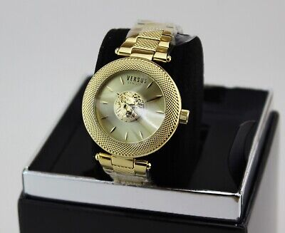 NEW AUTHENTIC VERSUS BY VERSACE BRICK LANE GOLD WOMEN'S VSP213318 WATCH