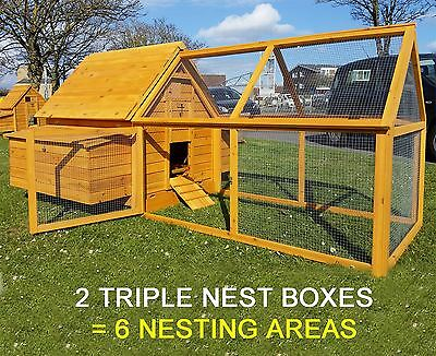 LARGE CHICKEN COOP RUN HEN HOUSE POULTRY ARK HOME NEST BOX COOPS 1000 PLUS RUN
