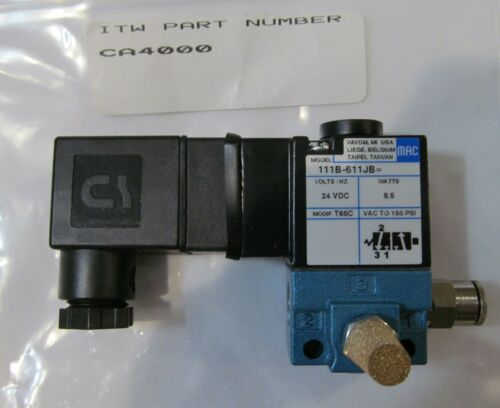NEW ITW DYNATEC CA4000 SOLENOID VALVE ASSEMBLY INDUSTRIAL UFD HOT MELT SYSTEM