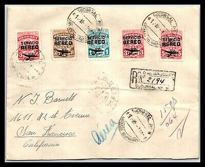 GP GOLDPATH: URUGUAY COVER 1946 REGISTERED LETTER AIR MAIL _CV695_P04