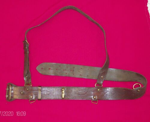 Sam Browne belt - Large Waist