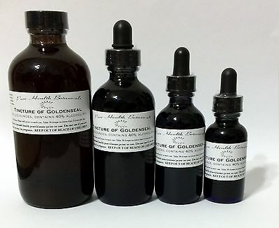 Goldenseal Tincture  Extract  Highest Quality  Mult Sizes  Liver  Immune System