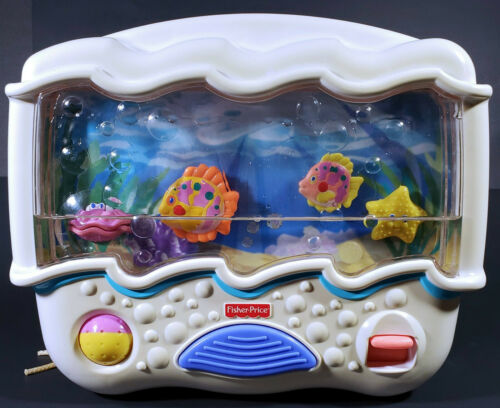 2002 Fisher Price Ocean Wonders Aquarium Sounds Lights Crib Soother Toy #73545