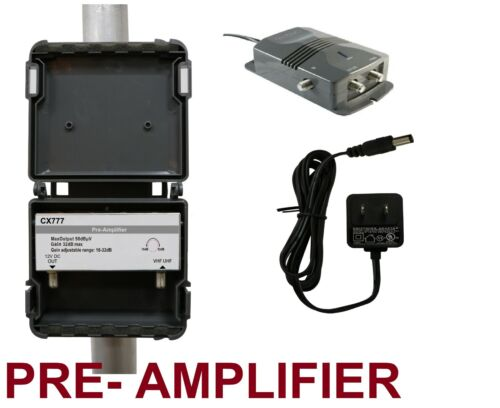 ANTENNA TV PRE-AMPLIFIER SIGNAL BOOSTER HD - AMP OTA GAIN 32 dB Titan 2