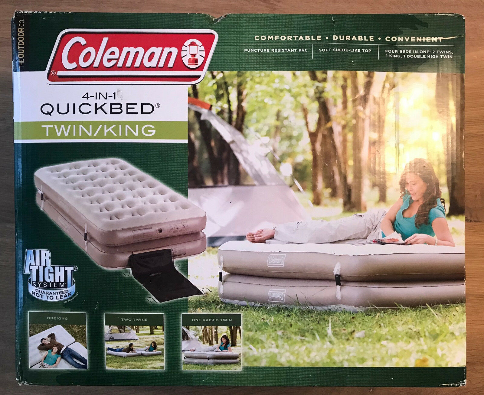 Coleman 4-IN-1 QUICKBED TWIN/KING - One King - Two Twin - On