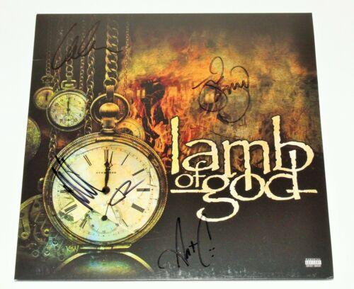 LAMB OF GOD BAND SIGNED SELF TITLED ALBUM VINYL RECORD LP w/COA x4 JOHN CAMPBELL