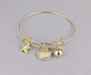 Starfish Bracelet Sea S Bangle Expandable Thin Skinny Gold