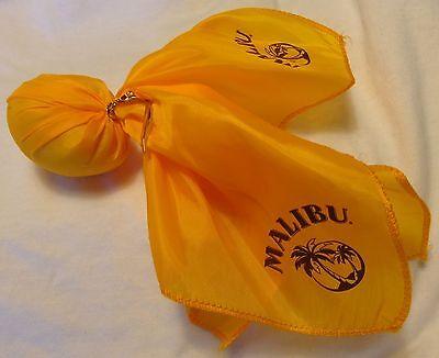 MALIBU Rum Yellow Football Penalty Flag - Scarf w/ weight - Palm Tree Logo - Yellow Penalty Flag