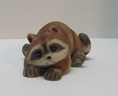 Raccoon Figurine Marked 1978 RJ Brown Vintage