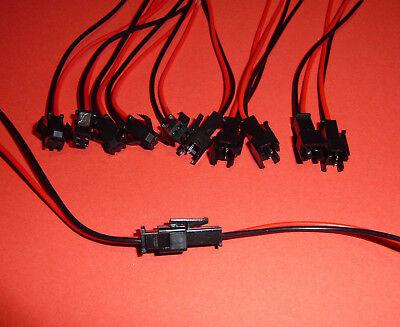 5 Paar JST XH Stecker Buchse mit Kabel LED 2,54mm 2Pin Quadrocopter RC Akku usw. 2 Pin Stecker