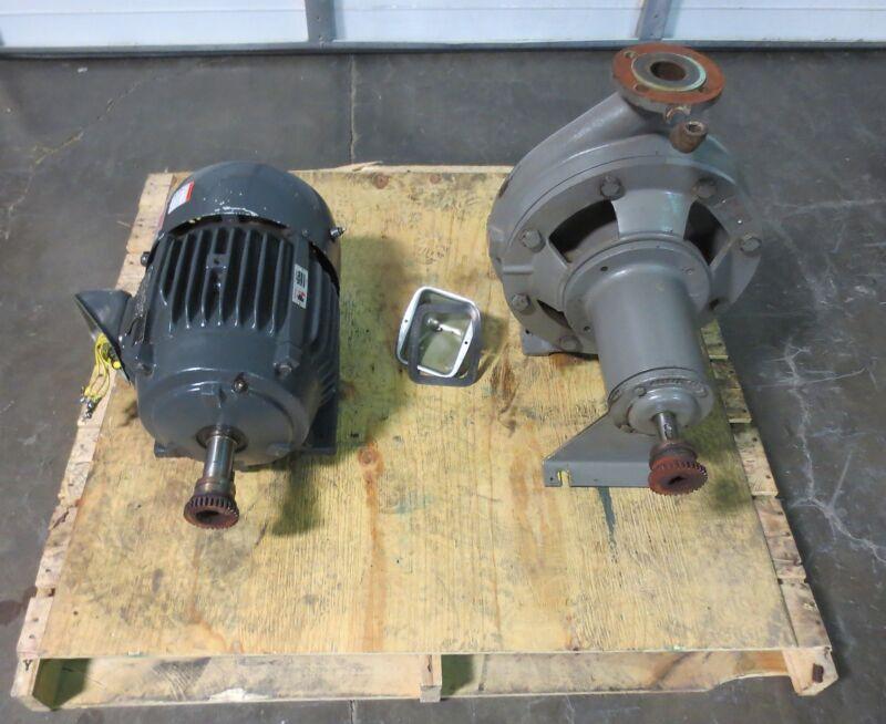 Flowserve Centrigual Pump D814-3X2X13F 325 GPM w/ 15 HP 1775 RPM 3 Ph AC Motor
