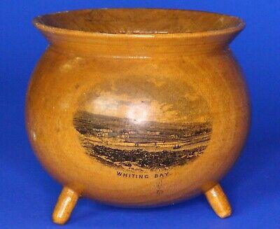 Antique Victorian Mauchline cauldron, HANDLE MISSING 6cm *[17709]
