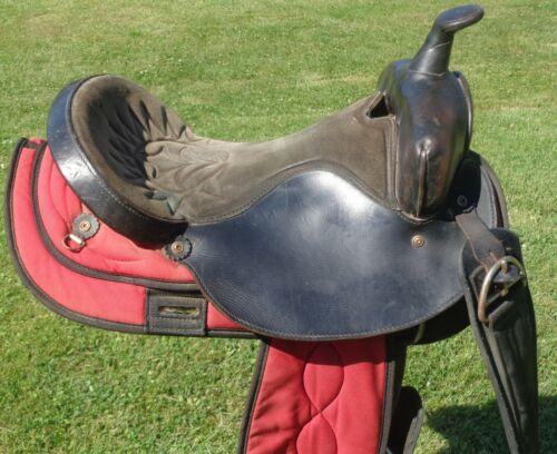 "16-1/2"" BIG HORN Lightweight 20# Leather & Cordura TRAIL Pleasure Barrel SADDLE"