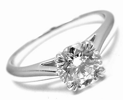 Authentic! Harry Winston Platinum .56ct VVS1/F Diamond Solitaire Engagement Ring