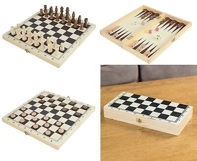 s, Draughts and backgammon 3-in-1 Game Set Chrismas Gift (Chrismas Spiele)