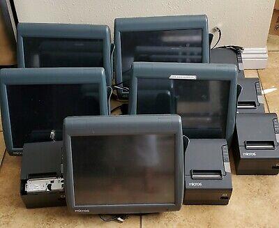 Micros 3700 Pos System - 5 Terminals - 5 Printers 2 Cash Drawers
