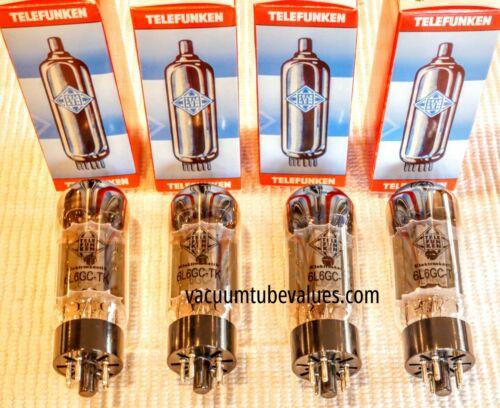QUAD  Telefunken Elektroakustik Factory Matched 6L6 6L6GC 6L6G-TK Black Diamond