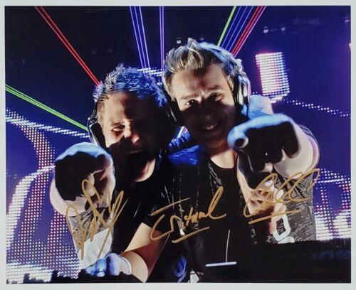 TRITONAL DJ SIGNED 8X10 PHOTOGRAPH EDM W/COA U & ME CHAD CISNEROS DAVID REED