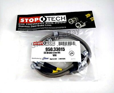 STOPTECH STAINLESS STEEL BRAIDED FRONT BRAKE LINES FOR 15 UP AUDI Q3 ALL
