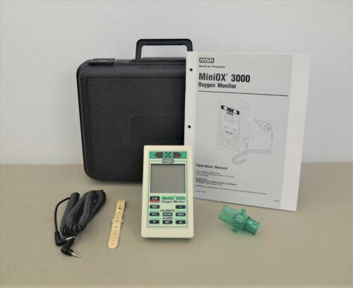 MSA MiniOX 3000 Oxygen Monitor w/ Accessories & Case (20372-76) (D23)