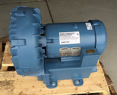 Ametek Dr858ay72x Regenerative Blower 7.5hp 03876 New