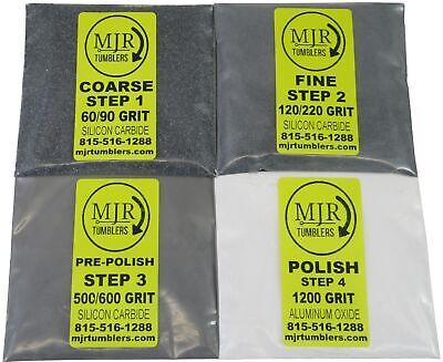 3lb Rock Tumbler Refill Grit Kit Stone Polishing Silicon Carbide Aluminum Oxide