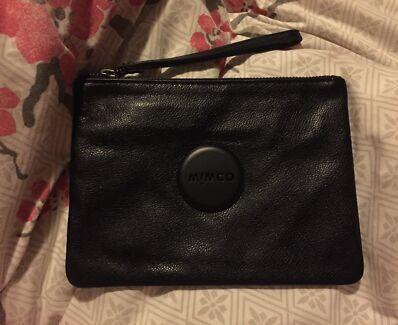 Mimco medium pouch matte black