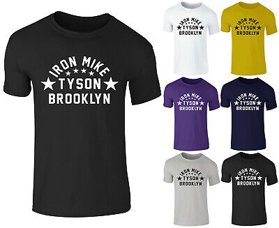Mens IRON MIKE TYSON Brooklyn New York Boxing Gym Training T-Shirt Top Tee