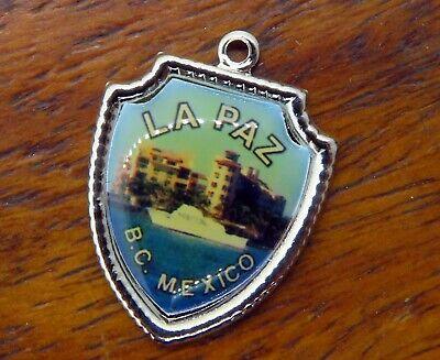 Used, Vintage sterling silver LA PAZ B.C. MEXICO TRAVEL SHIELD charm #E23 for sale  Staten Island