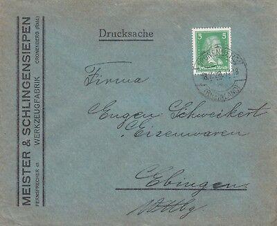 CRONENBERG, Briefumschlag 1928, Meister & Schlingensiepen Werkzeug-Fabrik