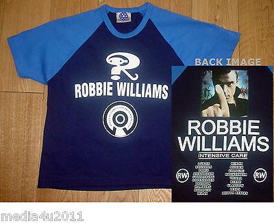 ROBBIE WILLIAMS INTENSIVE CARE 2006 CONCERT TOUR AGE 9-10 BLUE T SHIRT NEW