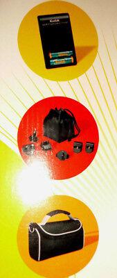 Neu Kodak Power Travel Kit International Ladegerät u. 6 Adapterstecker in Tasche Kodak Travel Kit