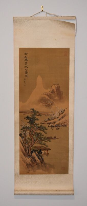 Early 20th Century Antique Chinese Landscape Scroll Painting